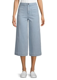 Alice + Olivia Johnny Front Patch Capri Jeans