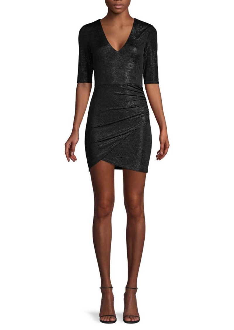 Alice + Olivia Judy Ruched Metallic Dress