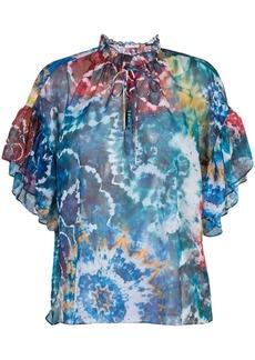 Alice + Olivia Julius tie dye print blouse