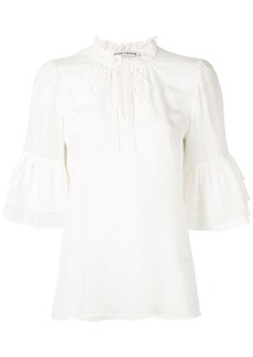 Alice + Olivia Julius tier sleeve blouse
