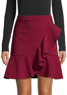 Alice + Olivia Juno Ruffle-Front Mini Skirt
