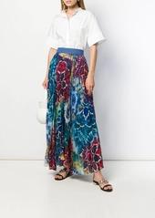 Alice + Olivia Kaleidoscope pleated maxi skirt