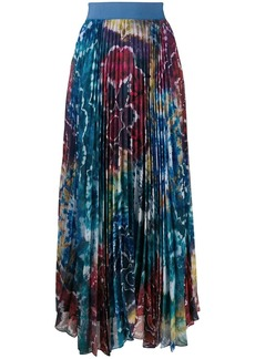 Alice + Olivia Kaleidoscope pleated maxi skirt