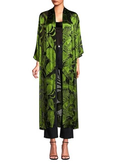 Alice + Olivia Kalena Long Draped Open Front Caftan