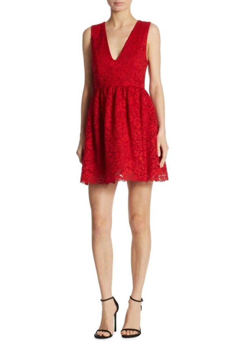 Alice + Olivia Kappa Lace Party Dress