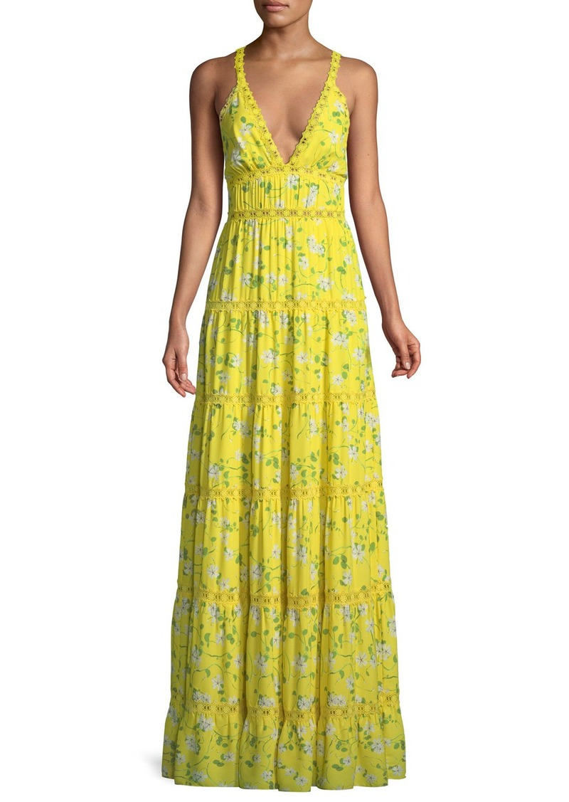 f259756a375 Alice + Olivia Karolina Floral-Print Tiered Maxi Dress