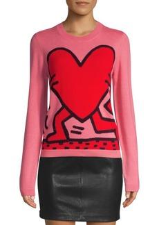 Keith Haring X Alice + Olivia Connie Intarsia Knit