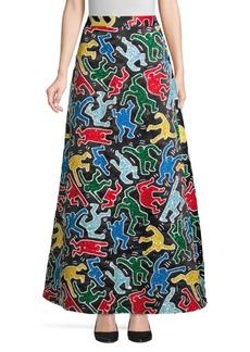 Keith Haring X Alice + Olivia Ursula Embellished Skirt