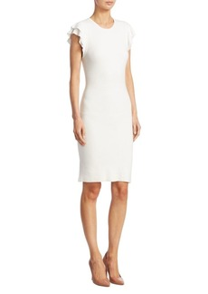 Alice + Olivia Kellin Ruffle Sleeve Sheath Dress