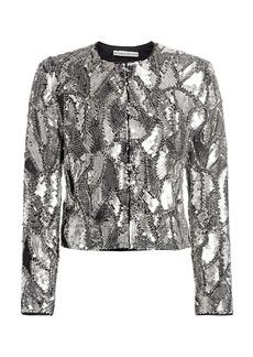 Alice + Olivia Kidman Embellished Sequin Jacket