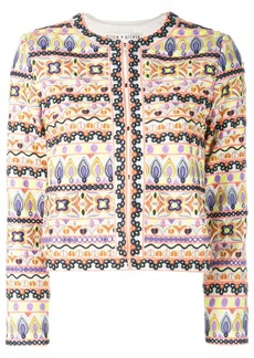 Alice + Olivia Kidmand embroidered box jacket