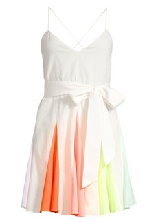 Alice + Olivia Kimmy Sleeveless Short Godet Dress