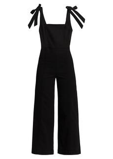 Alice + Olivia Kinley Tie-Shoulder Gaucho Jumpsuit