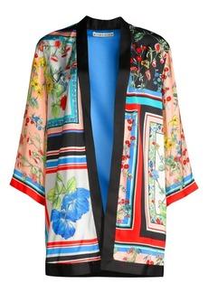 Alice + Olivia Koho Patchwork Floral Print Topper Jacket