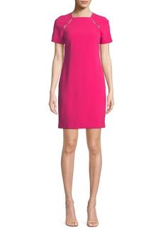 Alice + Olivia Kristiana Fitted Dress with Cutouts
