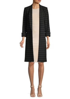 Alice + Olivia Kylie Checkered Open Front Jacket