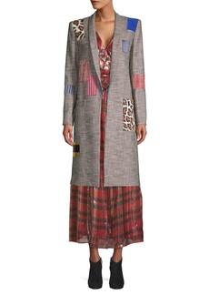 Alice + Olivia Kylie Patchwork Coat