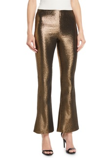Alice + Olivia Kylyn High-Waist Back-Zip Flare Pants