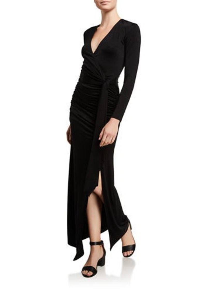 Alice + Olivia Kyra Deep V Drapey Dress