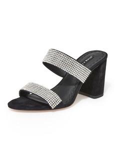 Alice + Olivia Laleah Block-Heel Slide Sandals