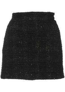 Alice + Olivia lamé tweed mini skirt