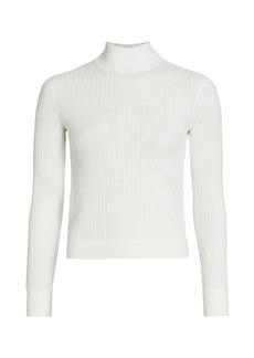 Alice + Olivia Lanie High-Neck Knit Pullover