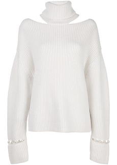 Alice + Olivia Lara open-shoulder jumper