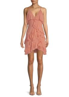 Alice + Olivia Lavinia Ruffle-Trimmed Dress