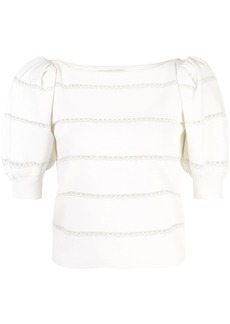 Alice + Olivia Lavona lace insert top
