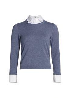 Alice + Olivia Layered Collared Sweater
