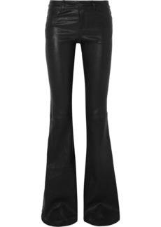 Alice + Olivia Leather Flared Pants