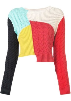 Alice + Olivia Lebell colour-block jumper