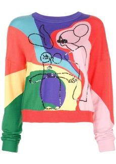 Alice + Olivia Leena Intarsia sweatshirt
