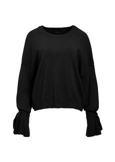 Alice + Olivia Leighton Tie Bell-Sleeve Sweater