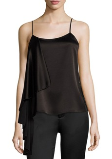 Alice + Olivia Lelah Side-Drape Camisole Top