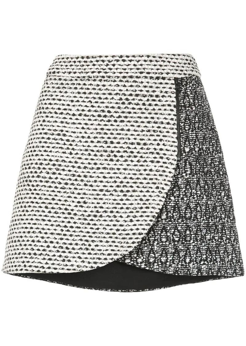 Alice + Olivia Lennon jacquard petal mini skirt