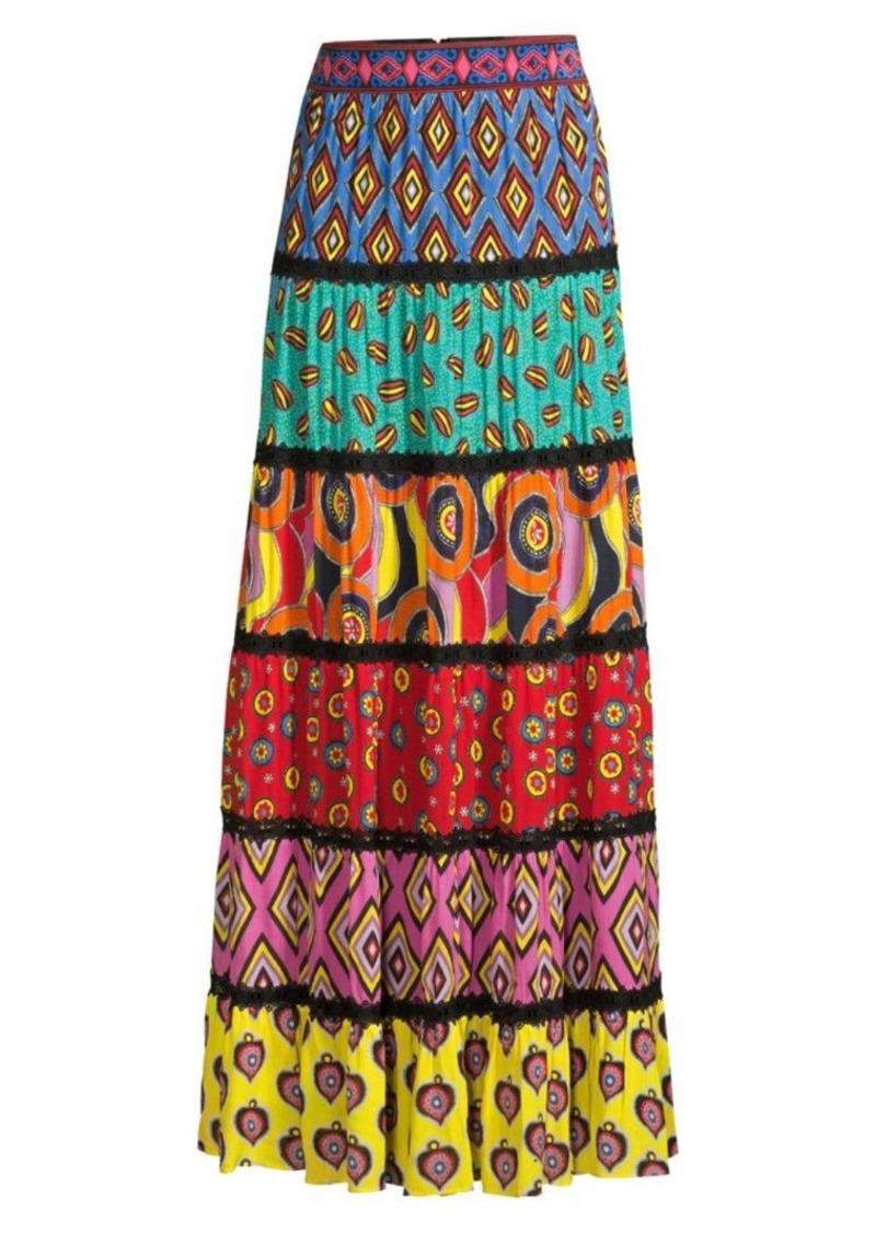 Carla Kranendonk X Alice + Olivia Lesa Paneled Maxi Skirt