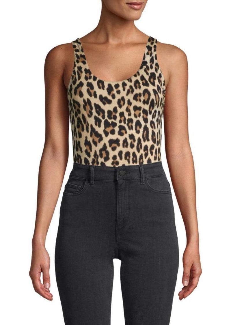 Alice + Olivia Leopard-Print Bodysuit