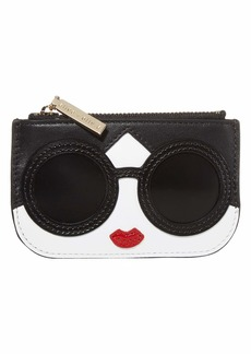 Alice + Olivia Lili Stace Face Coin Pouch Key Charm
