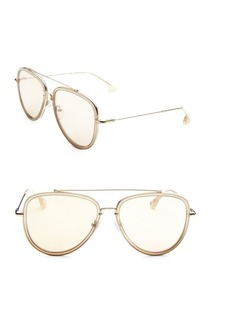 Alice + Olivia Lincoln Gold 58mm Aviator Sunglasses