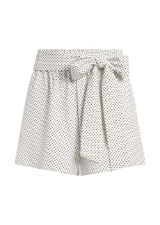 Alice + Olivia Linn Paperbag Waist Polka Dot Shorts