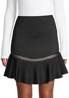 Alice + Olivia Lisbeth Knit Ruffle Skirt
