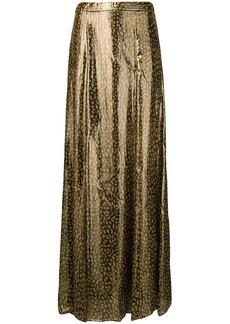 Alice + Olivia long leopard print skirt