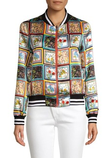 Alice + Olivia Lonnie Reversible Bomber