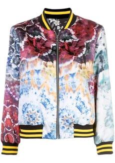 Alice + Olivia Lonnie tie dye bomber jacket