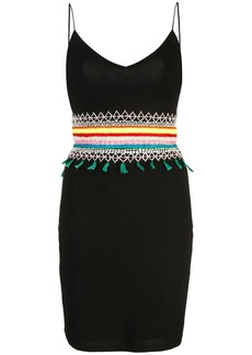 Alice + Olivia Loralee embroidered fitted dress
