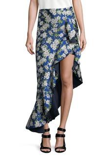 Alice + Olivia Lovetta Floral Asymmetrical Skirt
