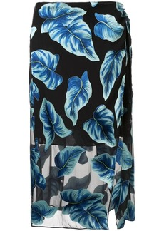 Alice + Olivia Lumi wrap midi skirt