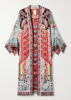 Alice + Olivia Lynn Reversible Printed Satin Kimono