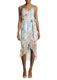 Alice + Olivia Mable Midi Wrap Dress